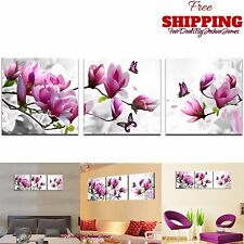 3 Panel Framed Flower Canvas Wall Art Home Decor Modern Painting Print Picture
