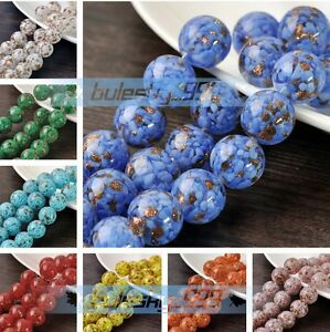 5pcs-12-20mm-Big-Round-Lampwork-Glass-Charms-Loose-Spacer-Beads-Jewelry-Findings