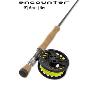 BRAND  NEW ORVIS ENCOUNTER 6 WEIGHT 9' FLY ROD OUTFIT  NEW DEAL  promotions