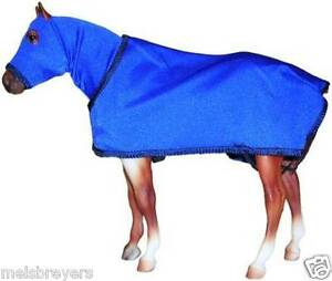 Breyer-or-Stone-Model-Horse-ROYAL-BLUE-Sleazy-Hood-and-Sheet-FREE-SHIPPING