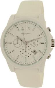 Armani-Exchange-Men-039-s-AX1325-White-Silicone-Japanese-Quartz-Dress-Watch