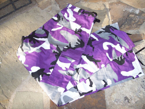 3X Purple Camo Pants Cargo Pants Ultra Violet Camo Bdu Pants Purple Camouflage