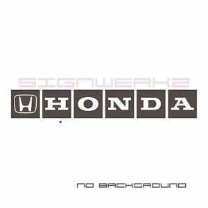 Honda Decal Sticker S2000 Civic Type R Integra Accord Turbo F1 Vtec Pair