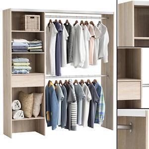 Kleiderschrank Akazie 3003 Offen Begehbar Regal Kleiderstander