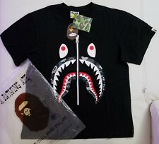 Bape Shark Head Black Shirt Size Large A Bathing Ape