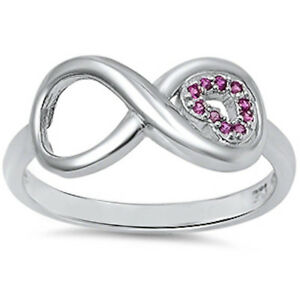 ruby infinity 925 sterling silver ring sizes 3 13
