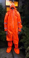New uv fluorescent neon orange rubber protective all-in hazmat suit festivals