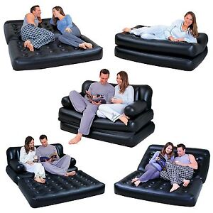 NEW-5-IN-1-DOUBLE-BLACK-INFLATABLE-AIR-SOFA-CHAIR-COUCH-LOUNGER-BED-MATTRESS