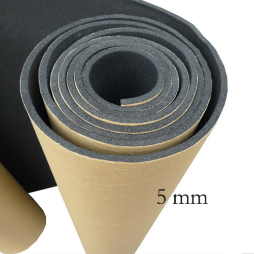 1 X Car Sound Proofing Deadening Insulation 5mm Closed Cell Foam 50X100CM SM