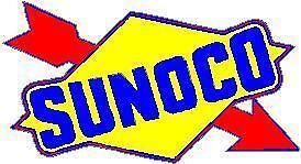 SUNOCO GASOLINE VINYL STICKER A471 4 INCH