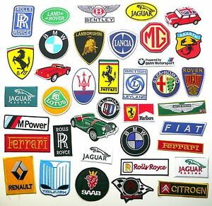 TOP-EUROPEAN-CAR-BRAND-PATCHES-Any-Marque-Patch-Only-1-40-UK-SELLER-NEW