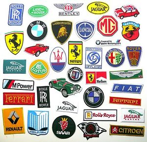 TOP EUROPEAN CAR BRAND PATCHES - Any Marque Patch Only £1.45, UK SELLER! NEW!