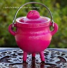 FAERY MAGIC™ Pink Cast Iron Cauldron Small Incense Burner Censer Pagan Wicca