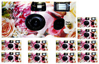 (lot Of 10) Disposable Cameras Wedding Camera One Time Single Use Flower E:2017