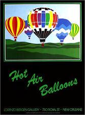 Lorenzo Bergen Hot Air Ballon Festival 1982 New Orleans Poster