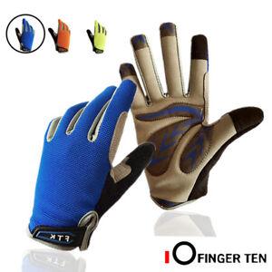 Outdoor Cycling Full Finger Glove Riding Anti Slip Bike Gloves Sports Gloves M L