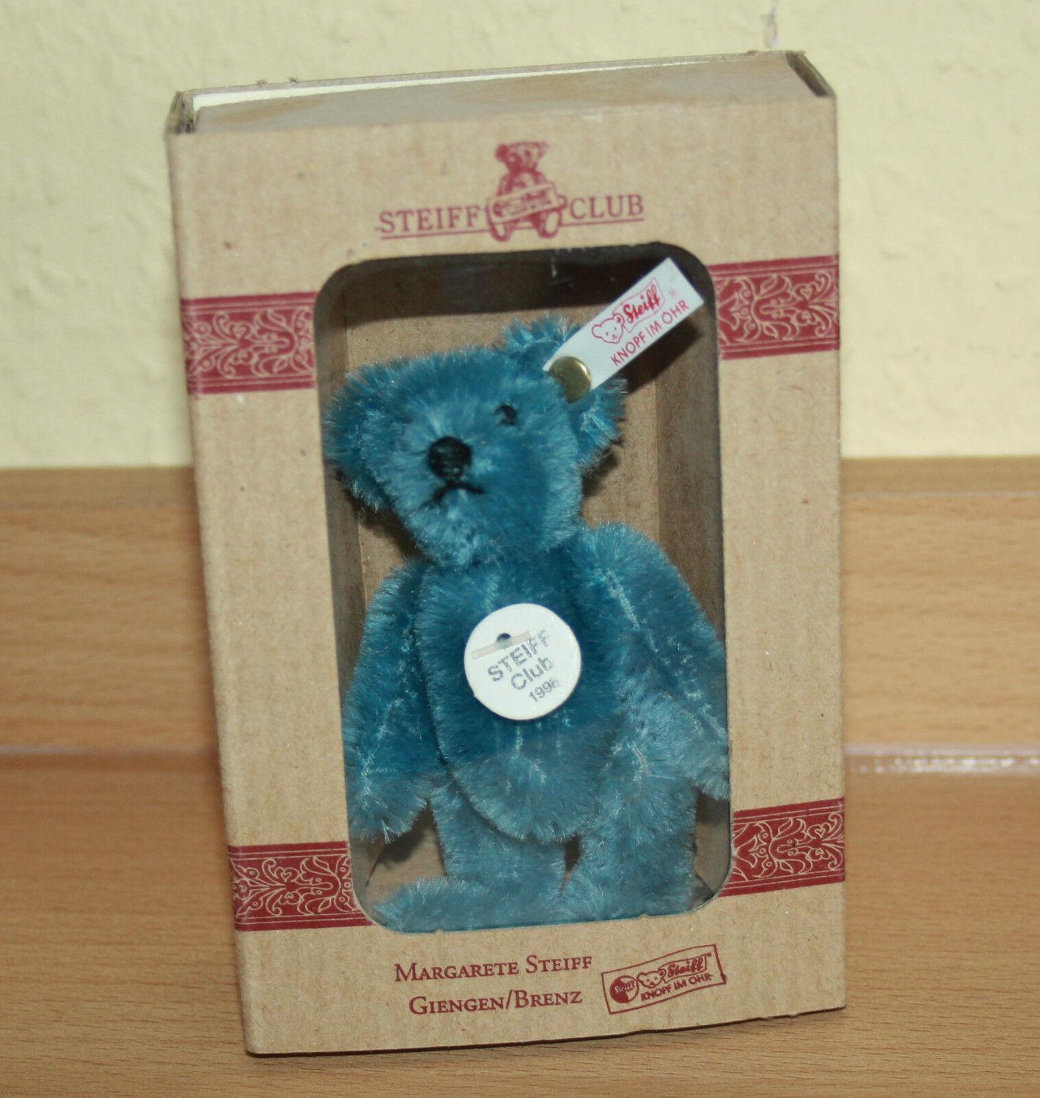 Steiff Club Teddy Bär 1998 mit Zertifikat Blau