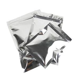 Reclosable Silver Flat Aluminum Foil Mylar Self Seal Bags Pouches