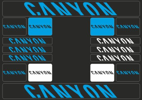 CANYON Mountain Bicycle Frame Decals Stickers Graphic Adhesive Set Vinyl Blue