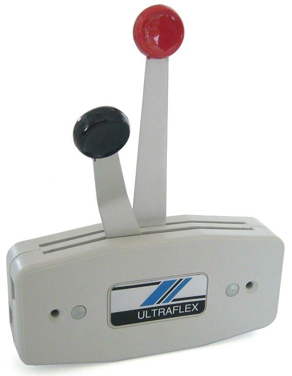 Zweihebel-Fernschaltbox Zweihebel-Fernschaltbox Zweihebel-Fernschaltbox Ultraflex B47 grau für Handstartmodelle - Fernschaltung 832978