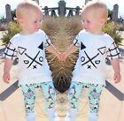 Coton Bio Bébé Enfant En Bas Âge Garçons Vêtements Haut T-shirt Fox Pantalon