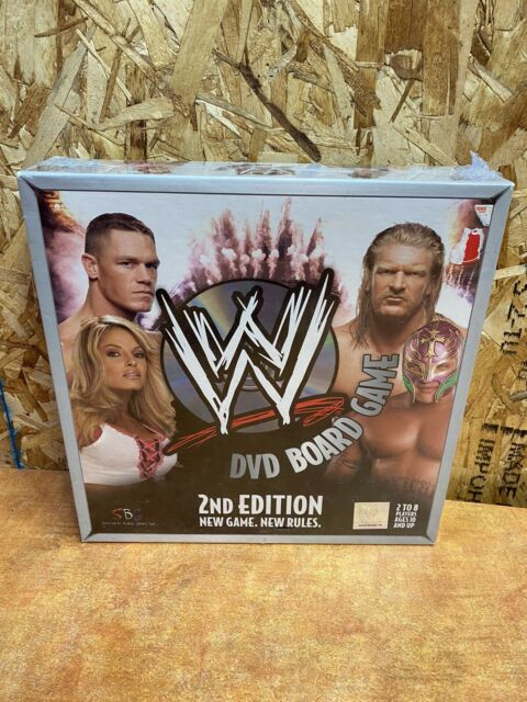 WWE DVD Board Game 2nd Edition New Game New Rules Raw Smackdown Pro Wrestling