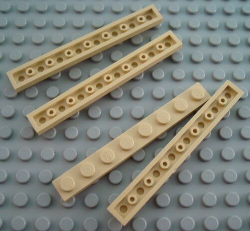 LEGO Lot of 4 Tan 1x8 Plates