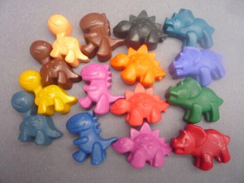 dinosaur novelty handmade wax crayons x 10