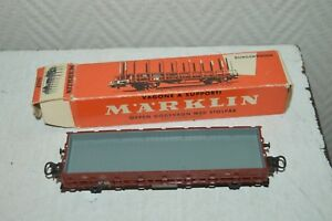 WAGON-MARCHANDISE-PLAT-DB-MARKLIN-TRAIN-LOCO-CAR-BOITE-WAGEN-TANK-4607