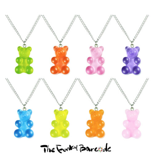 TFB LARGE PENNY SWEETS GUMMY BEAR NECKLACE Funky Quirky Novelty Kawaii Cool