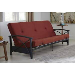 Details About Mainstays Futon Mattress Full Size Red Folding Sofa Bed Living Room Furniture