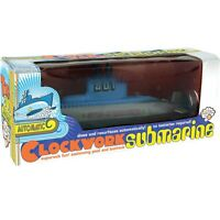 RETRO CLOCKWORK SUBMARINE AUTO SUBMERGE BATH TIME KIDS GIFT BRAND NEW