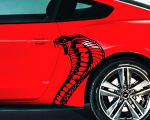 NEW COBRA SNAKE vinyl Graphics sticker Decal Racing Fits Ford MUSTANG SHELBY