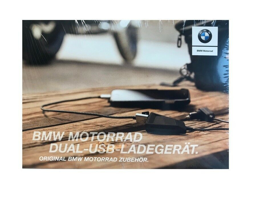 Original BMW Motorrad USB Ladegerät mit Kabel 60cm 12V Dual