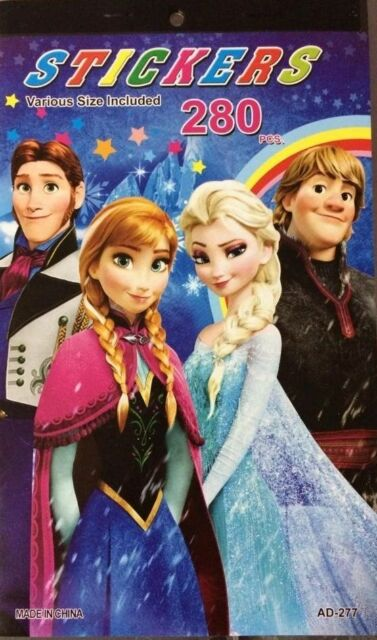 NEW STICKER BOOK DISNEY FROZEN ELSA OLAF TOY GIRL PARTY GIFT ROOM ACCESSORIES