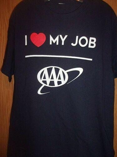 AAA towing I Luv my Job AAA blue L t shirt