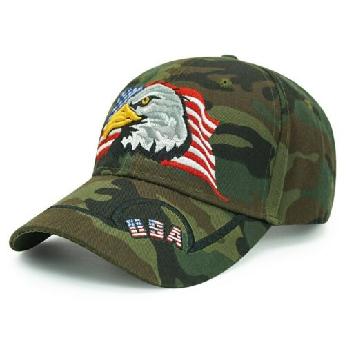 New Men Eagle Baseball Cap American Flag Embroidery Snapback Dad Hat Bone Male