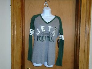 new style dfa59 cd7f5 Details about New York Jets Team Apparel Women's Long Sleeve T Shirt Medium  NWT