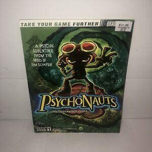 EX COND PSYCHONAUTS Strategy Guide Hint Book Secrets BradyGames VHTF Rare Guide