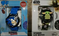 Sonic The Hedgehog Fidget Spinner Wristwatch Watch With Collectible Tin Sega For Sale Online Ebay