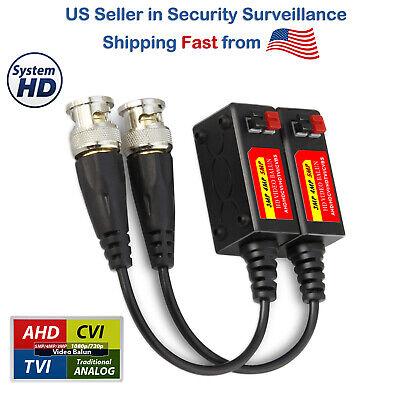 25 Pair CCTV Coax BNC Video Pigtail Balun Transceiver Adapter over CAT5 50pcs