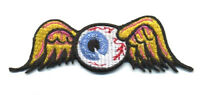 Hot Rod Patch Flying Eyeball Badge Von Dutch Drag Race Motorcycle Iron On