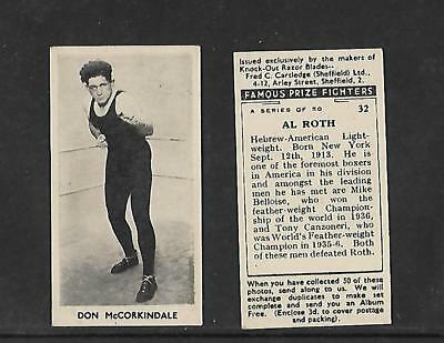 CARTLEDGE-FAMOUS PRIZE FIGHTERS BOXING DON MCCORKINDALE -#33 MATT WHITE PRINT