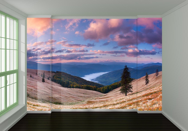 3D Clouds Hillside 75 Wall Paper Murals Wall Print Wall Wallpaper Mural AU Lemon