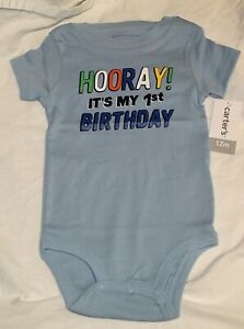 Image Is Loading New Carters Baby Boy First Birthday 1st Blue