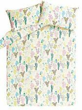 Green Ivory Cactus Cacti Print Duvet Cover Set KING SIZE New