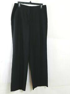 Talbots-Stretch-Dress-Pants-Womens-Size-10-Petite-Heritage-Wide-Leg-Black-Pant