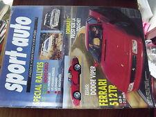 µ?a Revue Sport Auto n°360 Paris-Le Cap Monte Carlo Prost Ferrari 512 TR Alen