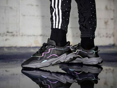 Adidas Ozweego Negro/Gris Zapatillas Para Hombre Reflectante Todas Las  Tallas | eBay