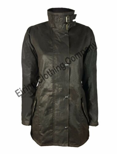 NUOVO Donne Ragazze eirinn Country Wear Cera Cotone Giacca Impermeabile Riding Coat